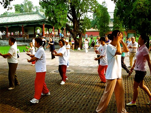 Tai Chi is often done as a group exercise