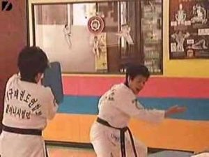 70-year old South Korean Grannies Training in Taekwondo